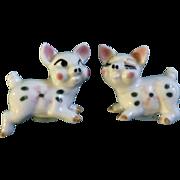 Vintage Pig Salt & Pepper Shakers Made in Japan Ceramic Figurines