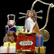 Retired Danbury Mint 2008 Sheltie Christmas Ornament Christmas Drummer Dog Collie Figurine