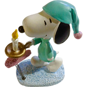 Rare Discontinued Sleep Walking Ultimate Snoopy Hand Painted Danbury Mint Miniature Figurine