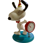 Rare Discontinued Happy New Years Ultimate Snoopy Hand Painted Danbury Mint Miniature Figurine