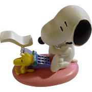 Rare Discontinued Type Writing Ultimate Snoopy Hand Painted Danbury Mint Miniature Figurine