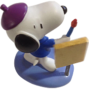 Rare Discontinued French Painter Ultimate Snoopy Hand Painted Danbury Mint Miniature Figurine