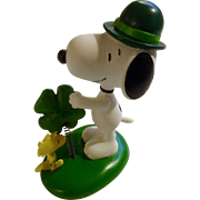 Rare Discontinued Luck of the Irish Saint Patrick's Day Ultimate Snoopy and Woodstock Hand Painted Danbury Mint Miniature Figurine