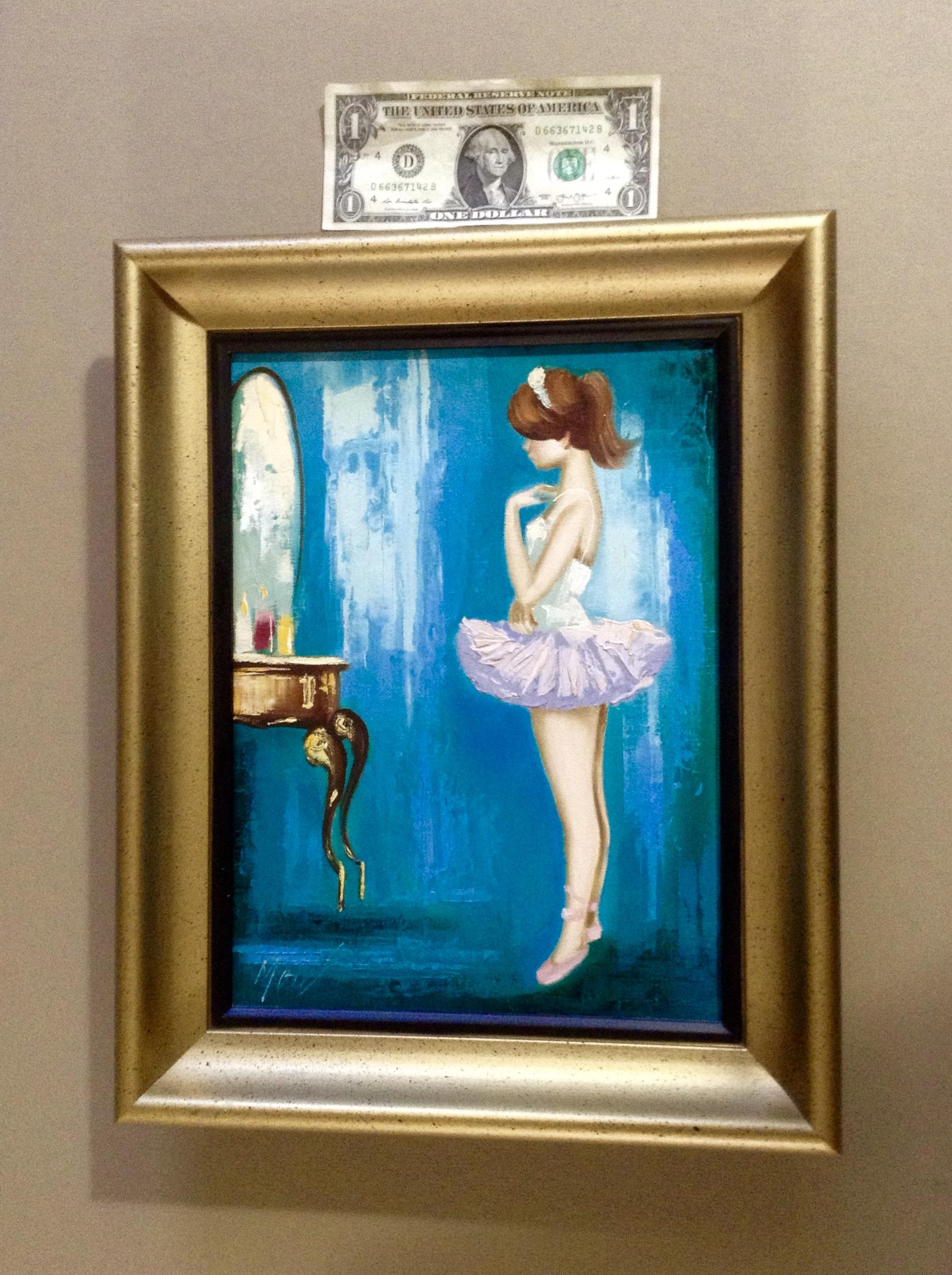 morel french ballerina looking in a mirror 1960 u0027s oil