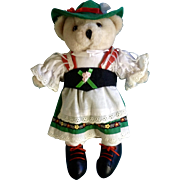 Vintage ES Gerhardshofen Teddy Bear Girl Stuffed Plush Animal Germany Toy