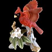 Vintage Andrea by Sadek 6231 Red Cardinal Bird Porcelain Japan Figurine