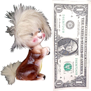 Bradley Exclusives  Squirrel Ceramic Figurine with Real Fur California Creations 1959
