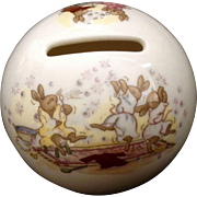 Vintage Royal Doulton Bunnykins Bank Money Ball Slumber Party Copyright 1936 Figurine