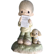 Retired Precious Moments God Understands Little Boy Crying Over His Exam Figurine E1379BR