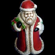 Claire Burke Ceramic Christmas Santa Vase 1991 Discontinued