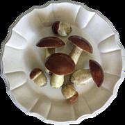 Este Ceramiche For Tiffany Trompe L'oeil Porcelain Mushroom Plate