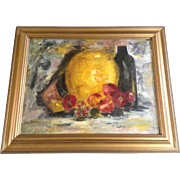 Blanche Marie Summers, Oil Painting on Paper My Cookie Jar Signed by Artist