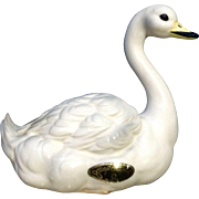 Vintage Josef Originals Graceful  White Swan Bird Ceramic Made in Japan Figurine