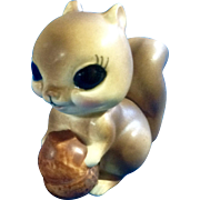 Vintage Josef Originals Adorable Big Eye Squirrel Animal Ceramic Figurine Made in Japan