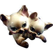Vintage Josef Originals Adorable Big Eye Kitten Cats Animals Ceramic Figurine Made in Japan