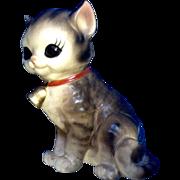 Vintage Josef Originals Adorable Big Eye Kitty Cat Animal Ceramic Figurine Made in Japan