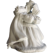 Discontinued Vintage Skating Couple Department 56 Winter Silhouettes Bisque Porcelain Figurine 9-1-4 ""