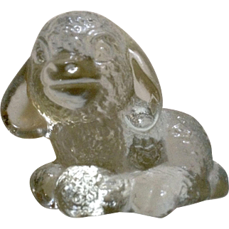 Goebel Little Clear Glass Lamb Figurine TMK-5 The Last Bee 1972-1979