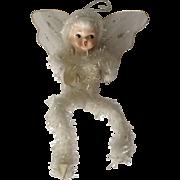 Vintage Holt Howard Christmas Angel Fairy Ornament Chenille Porcelain Figurine