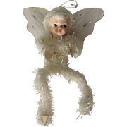 Vintage Holt Howard Christmas Angel Fairy Ornament Chenille Porcelain Figurine