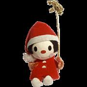 Vintage Holt Howard Christmas Santa Boy Holding Tinsel Star Fabric Japan Figurine