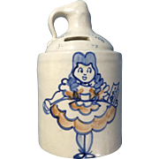 Ceramic Jug Pottery Bank Agnestrong Ltd Girl with a Book Dated 1949