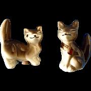 Adorable Vintage Fox Salt & Pepper Shakers Estes Park, Colorado Souvenir Figurines Made in Occupied Japan