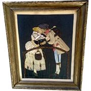 Antique Progressive Era Beaded Real Clothing Picture By General Art Galleries and Novelty Company Fort Wayne, Texas