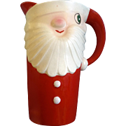 1959 Holt Howard Vintage Mid-Century Christmas Santa Ceramic Pitcher Japan
