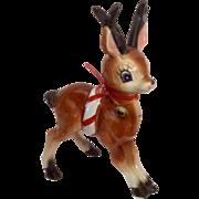 Vintage Kreiss Christmas Reindeer Ceramic Figurine 1950s-1960s