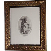 Marsha Howe K, Etching, Punky Penguin, Numbered Limited Edition Print, Signed by Listed Artist
