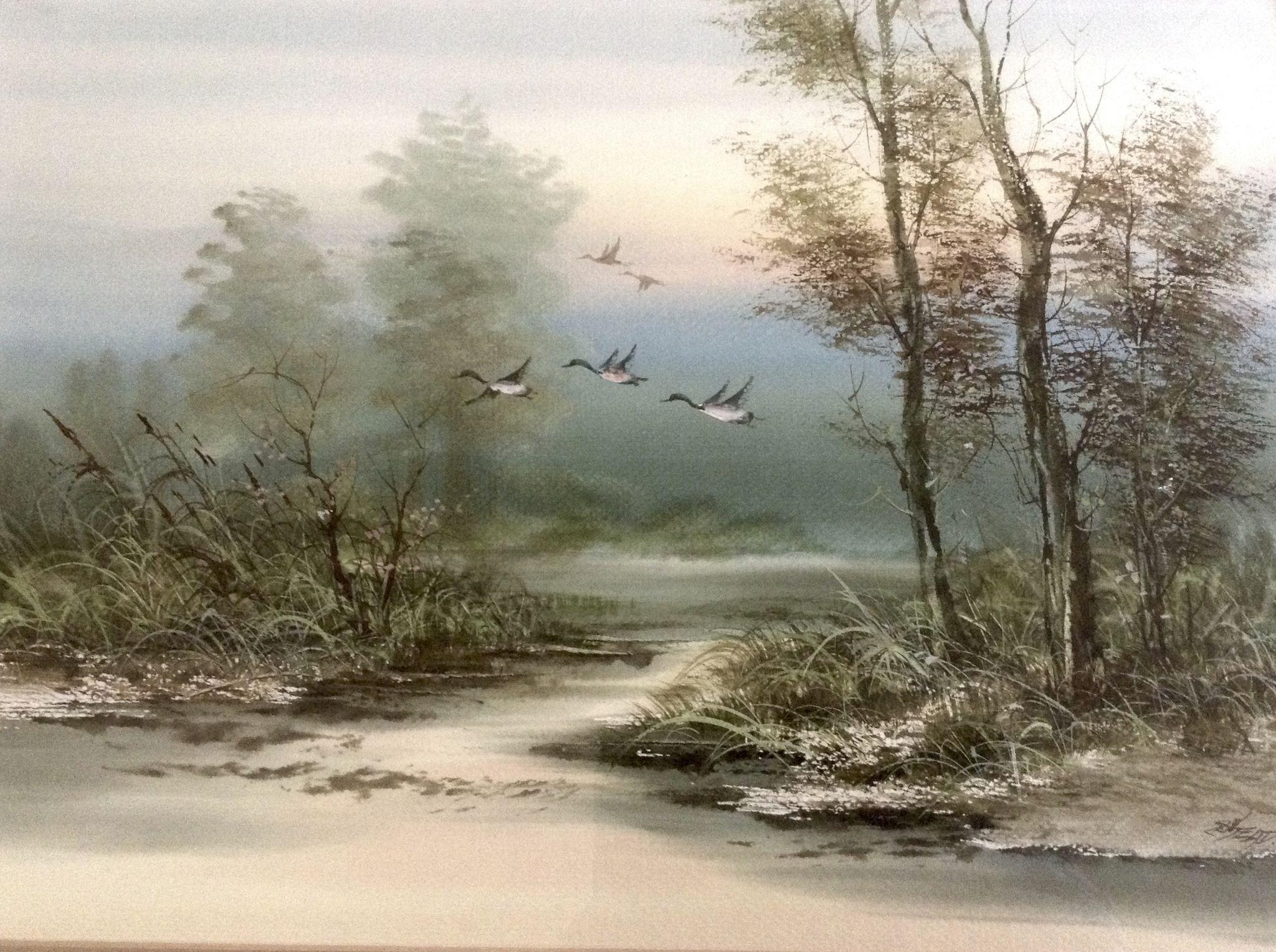 Surachai Promsuntisit Ead Mallard Ducks In Flight