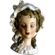 Beautiful Victorian Lady Head Vase Style Bust Single Ceramic Salt Shaker for Replacement