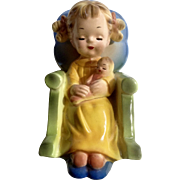 Josef Originals Girl in Rocking Chair with Doll Ceramic Figurine Made in Japan