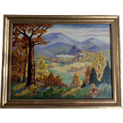 S. W. Zamonski, Plain Air Landscape Oil Painting on Canvas of Mountain Valley in the Fall Signed by Colorado Artist