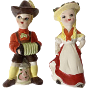 Vintage Kreiss 1957 German Couple Dancing to Music Salt and Pepper Shaker