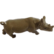 Retired A-829 Hagen Renaker Rhino Mother Porcelain Figurine