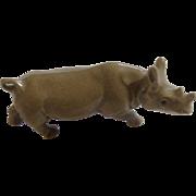 Retired A-829 Hagen Renaker Rhino Mother Porcelain Figurine