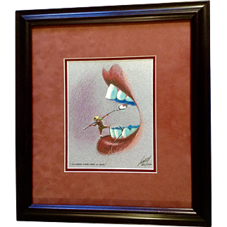 Jeff Leedy, Limited Edition Print 185 / 1500 Dental Explorer, I go where others fear to tread, Signed By Artist