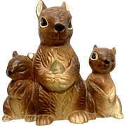 Vintage Norcrest Japan Adorable Squirrel Ceramic Bank Figurine