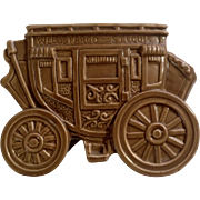 RARE Vintage Rubens Wells Fargo Stagecoach Planter Western Ceramic Vase Figurine Japan