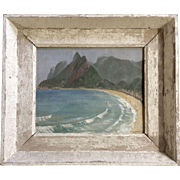 L Michael, 1951 Rio De Janeiro Oil Painting On Board Signed By Artist in Original Frame
