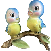 Vintage Adorable Bluebird Ceramic Figurine Souvenir of Ruidoso, N.M.