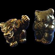 Royal Copenhagen Bears Knud Kyhn Denmark Bear figurines set 1969-1984,  21433,  21435