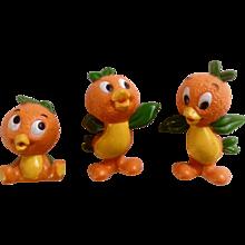Vintage Rare Walt Disney World Production Orange Bird Florida Figurine Set Hard to Find Hard Rubber Discontinued