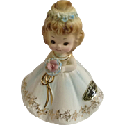 Vintage Josef Originals Beautiful Blushing Bride Rare Ceramic Figurine Made in Japan