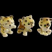 Vintage Rare Josef Originals Leopard Lion Cubs Made in Japan Ceramic Figurines