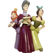 Discontinued Disney Store Lil Classics Anastasia, Drizella Lady Tremaine from Cinderella PVC Figurine