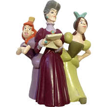 Discontinued Disney Store Lil Classics Anastasia, Drizella Lady Tremaine from Cinderella PVC Figurine