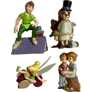 Discontinued Disney Store Lil Classics Peter Pan, Wendy, Michael, John Darling, Tinker Bell,  and the Lost Boys PVC Figurine Set